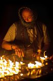 Old tibetan woman, Nepal Royalty Free Stock Images