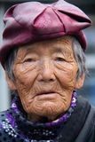 Old Tibetan women from lahasa. Going for morning wander around the stupa in lahasa Royalty Free Stock Images