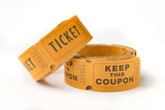 Old ticket stubs Royalty Free Stock Images