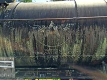 Old Tidewater Oil Company tanker car Royalty Free Stock Photos