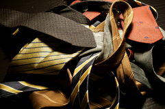 Old ties. On the table Royalty Free Stock Photos
