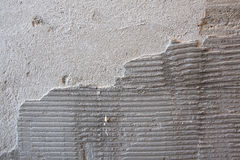 Old tile adhesive Royalty Free Stock Photography