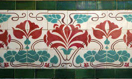 Old tile art nouveau Royalty Free Stock Photo