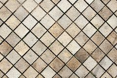 Old Tile Floor Background. Old Tile Floor on Walkway Background Royalty Free Stock Photography