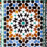 Old tile of Morocco Stock Photography