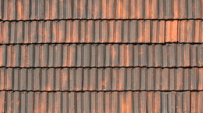 Old tile pantile for the roof Stock Photography