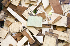 Old tile plywood Stock Photography
