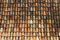 Old Tile Roof. Old coloured roof tiles from the Mediterranean Stock Image
