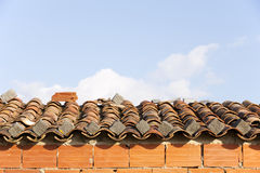 Old tile roof Stock Images