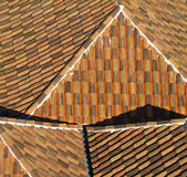 Old tile roof. Royalty Free Stock Photography