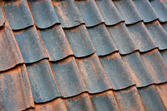 Old tile roof background Royalty Free Stock Photos