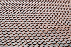 Old tile roof background Stock Photos