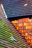 Old tile roof of the building Royalty Free Stock Image