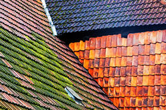 Old tile roof of a building Royalty Free Stock Photos