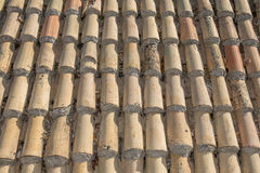 Old tile roof Stock Photo