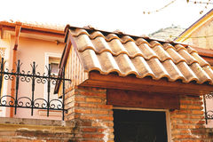 The old tile roof on a house in Tbilisi. Georgia. Stock Images