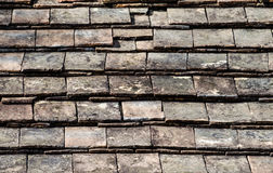 Old tile roof . Stock Photos