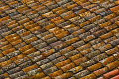 Old Tile roof. The old tile roof in Spain royalty free stock photos