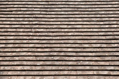 The old tile roof Stock Images
