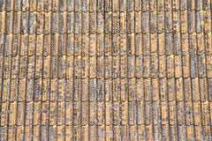 Old tile. Roof of temple Royalty Free Stock Images