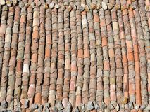 Old tile roof texture. Royalty Free Stock Image