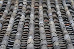 Old Tile Roof of Traditional Korean Architecture Royalty Free Stock Image