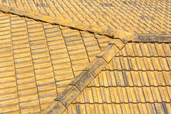 Old tile roof. Stock Image