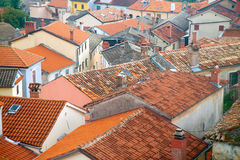 Old tile roofing Stock Photography