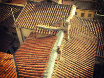 Old tile roofs Royalty Free Stock Photos