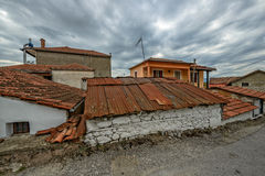 Old tile roofs in small village Royalty Free Stock Photo