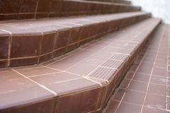 Old tile stairs with tile surface.  stock photos