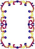 Old Tile Swirls Border Frame royalty free stock images