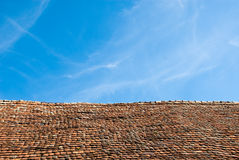 Old tiled building roof Royalty Free Stock Photo