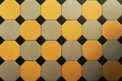 Old tiled floor. Hexagon. Texture. Background. stock photos