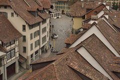Old tiled houses Royalty Free Stock Images