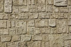Old Tiled Limestone Wall Fragment Background Royalty Free Stock Photos