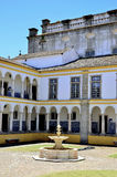 Old tiled patio with fountain in Portugal Stock Photos