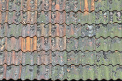 Old tiled roof Royalty Free Stock Images
