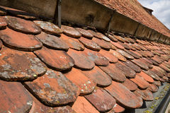 Old tiled roof Royalty Free Stock Photos