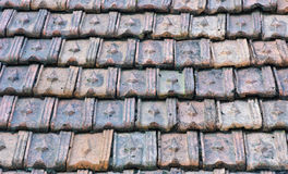 Old tiled roof Stock Photo