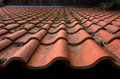 Old tiled roof. Royalty Free Stock Images
