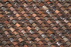 Old tiled roof background Royalty Free Stock Photo