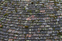 Old Tiled Roof. Old Tiled Slate Roof Close up Royalty Free Stock Images