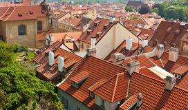 Old tiled roofs Stock Photos