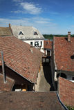 Old tiled roofs Stock Photo