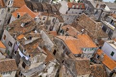 Old tiled roofs. Old tiled roofs of the mediterranean towns. Croatia Royalty Free Stock Image
