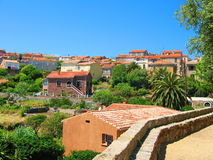 Old Tiled Roofs of Cargèse, Corse Stock Image