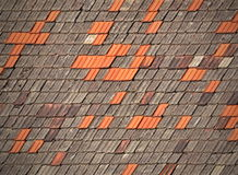 Old tiled roofs chapped Royalty Free Stock Image