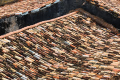 Old tiled roofs Stock Images