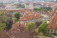 Old tiled roofs of Prague Royalty Free Stock Photo